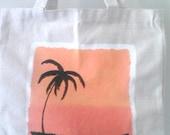 Custom Hand Painted Canvas Tote Bag Medium 13.5x13.5x4 Choose Your Design