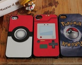 3 Pokemon pokeball pokedex gameboy Apple Iphone 4 / 4s Hard Case pikachu squirtle charmander