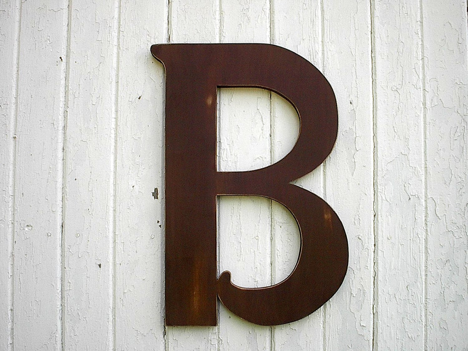 Big Wooden Wall Decor : Wooden letters b large inch brown distressed wood wall