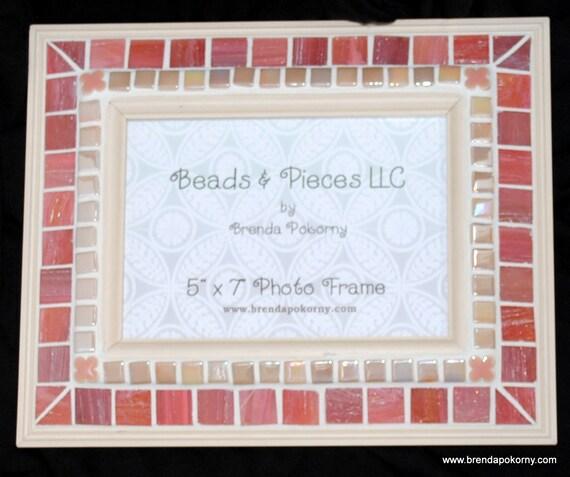 Peachy Keen Mosaic Photo Frame  MOF1343