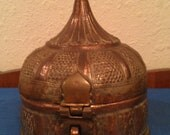 Antique Betel Nut Box Container Copper and Brass