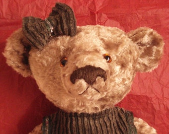 Handmade teddy bear - Jozephine - 35 cm / 14 inches , OOAK teddy bear, artist teddy bear, plush teddy bear