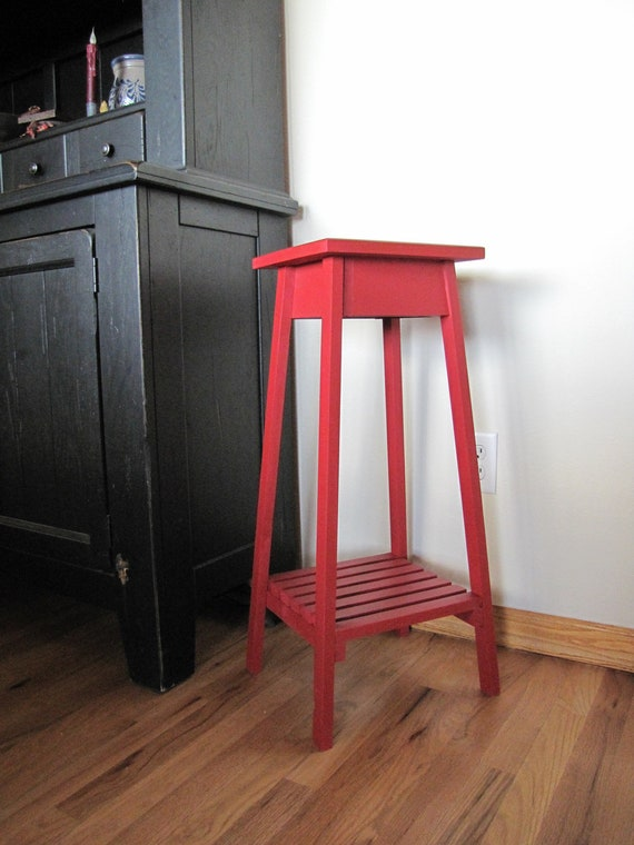 Foyer Plant Stand : Items similar to plant stand country red wood