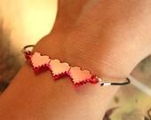 8-Bit Heart Bracelet