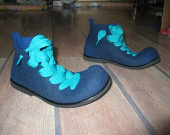 Felted boots NAVY BLUE