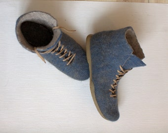 Felted boots DENIM LOOK