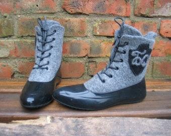 Felted boots NOSTALGIE