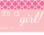 Customizable Baby Shower Invite for Girls or Boys PDF