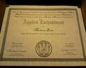 MU Fantasy Souvenir Diploma