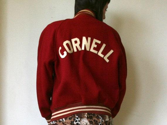 Vintage 1962 red cornell letter jacket for Cornell letter sweater