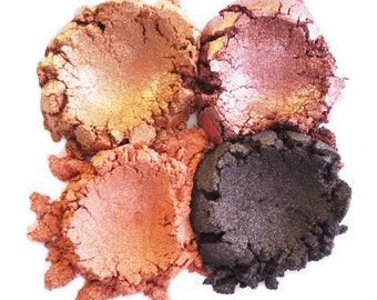 Mineral Makeup Eyeshadow - 4pc AUTUMN Makeup Eye Color Set - Natural Vegan Minerals