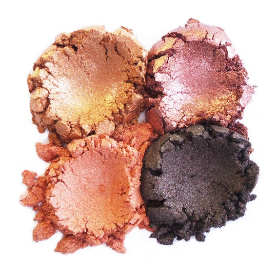 4pc AUTUMN Eyeshadow Collection Mineral Makeup Eye Color Set Natural Vegan Minerals