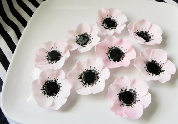 """RUSH CUSTOM 1 1/2"""" size, 6 qty ballet pink anemones, check convo for reference picture"""
