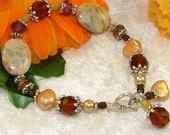 MAJOR MARKDOWN - Crazy Lace Agate Beaded Bracelet with Dangles