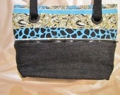 "Teal ""Rocky"" convertible purse/totebag"