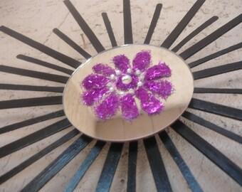 Black Sun with Purple Flower
