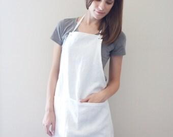 Linen Apron - White