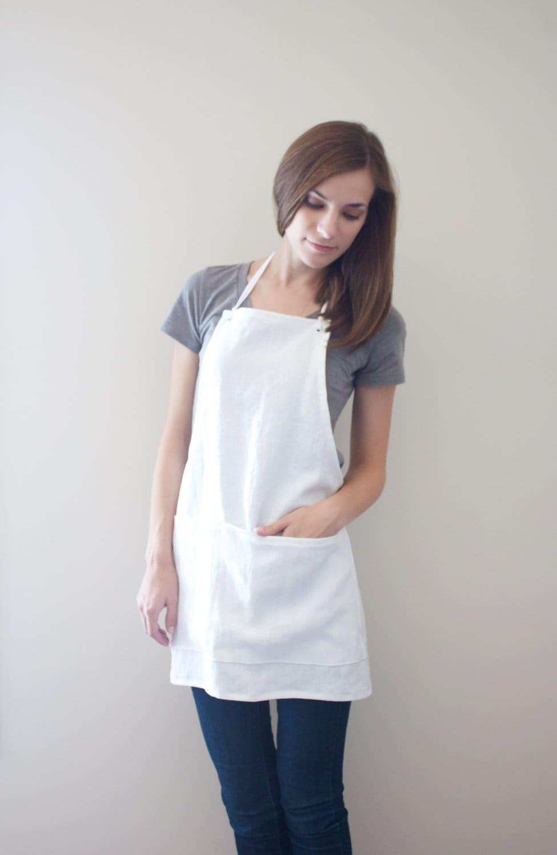 Linen Apron White