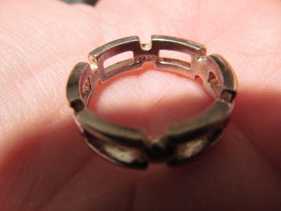 Vintage Sterling Link Ring Heavy and Thick for man or woman