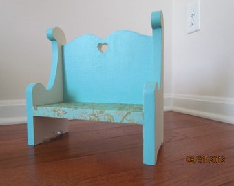 Turquoise Miniature Bench