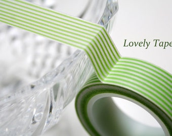 Green Stripe Washi Tape