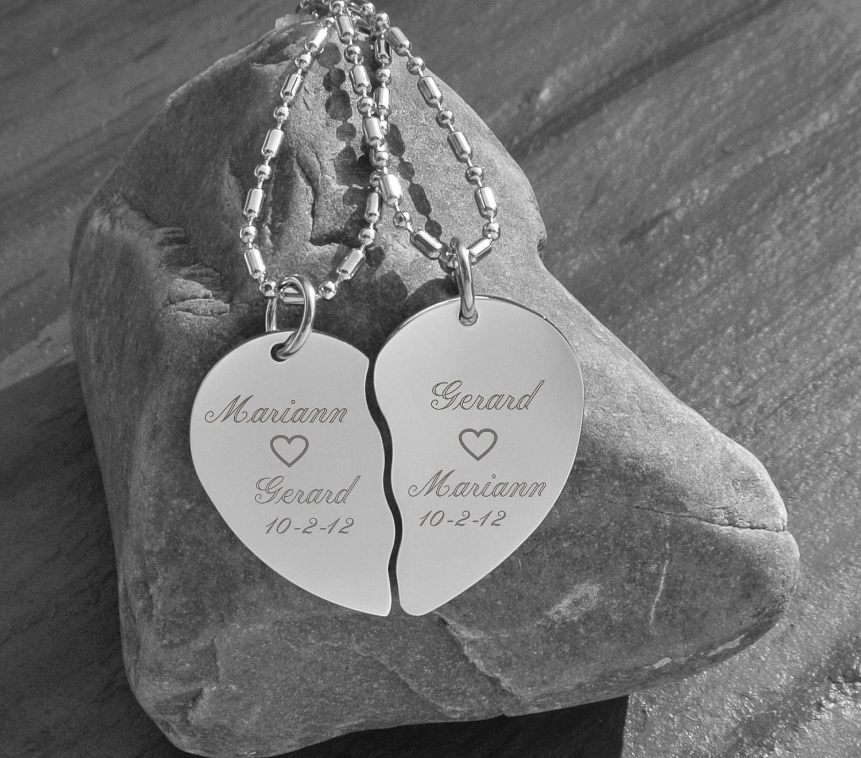 Broken Heart Couples Necklace Broken Heart Necklace
