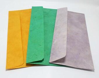 15 Handmade envelopes Lokta paper Eco friendly