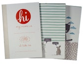 Cute and cheeky printed notebook 3 pack - 100% recycled paper