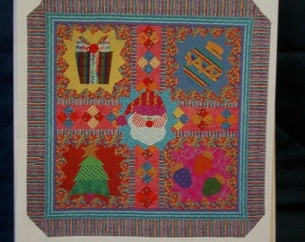 Merry and Bright / Christmas Applique quilt Pattern