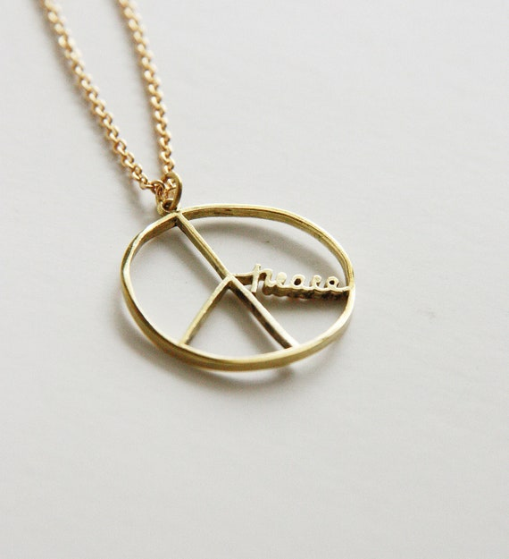 Peace Sign Pendant/ Necklace
