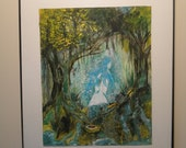 Original acrylic painting: Woman of the Forest