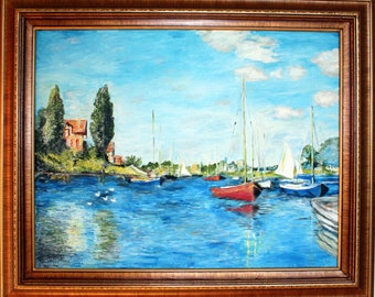 Replica of Monet's Argenteuil - 100% hand painted oil on canvas