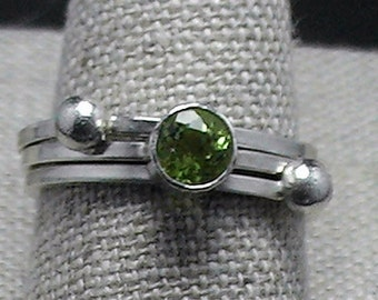 Peridot Stack Rings Sterling Savannah SCAD Grad