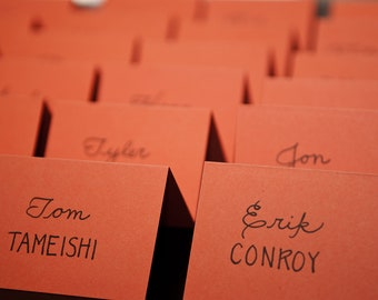 Custom Handwritten Wedding Calligraphy Place Cards, Escort Cards, or Seating Chart, Invitation Envelopes Also Available