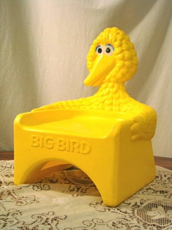 Vintage Big Bird Chair Toddler Chair Sesame Street