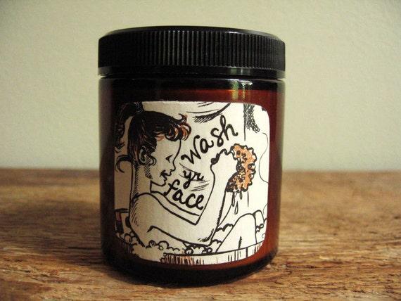 Wash yr Face - Splish Splosh - with kaolin clay, oats, rose, lavender and himalayan salt