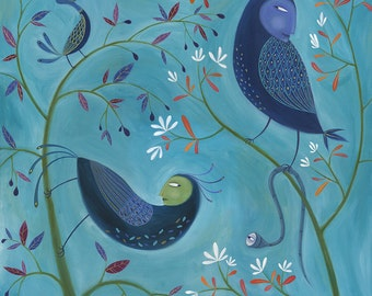 Mexican Standoffish. Open edition Giclee print by Tracie Grimwood.