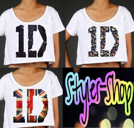 One Direction Logo British Flag/Galaxy/Flower Crop Top PREORDER