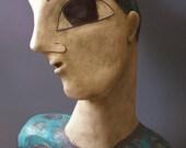 Ceramic Sculpture - Blue