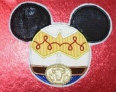 Custom Personalized Disney tshirt with  appliqued Jessie the cowgirl Mickey Mouse head style applique. Toy Story
