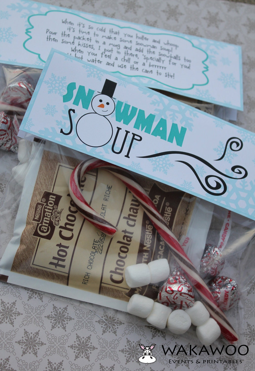 Snowman Soup Label/Tag Printable for by WakawooEvents on Etsy