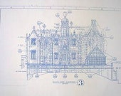 Walt Disney World Haunted Mansion SouthWest Elevation Blueprint