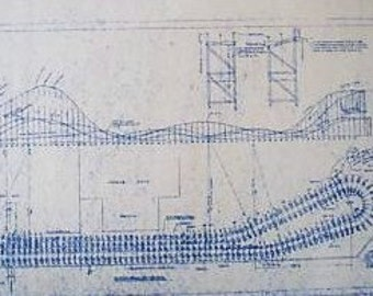 Crystal Beach Rollercoaster Blueprint