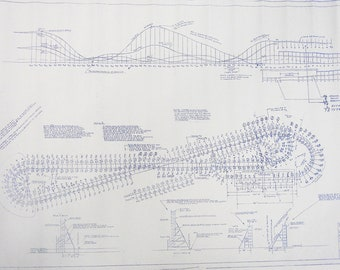Playland Wooden Rollercoaster Blueprint