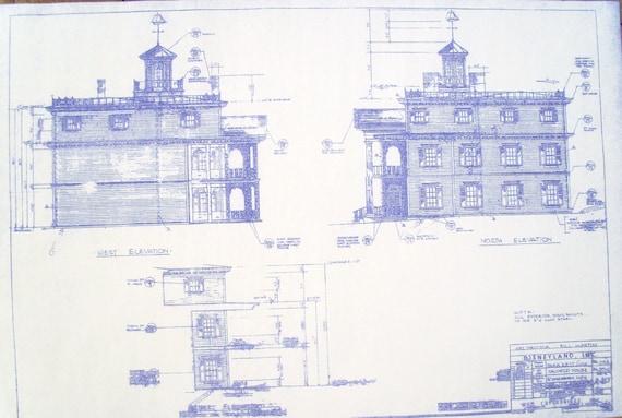Disneyland haunted mansion west north by blueprintplace for Haunted mansion blueprints