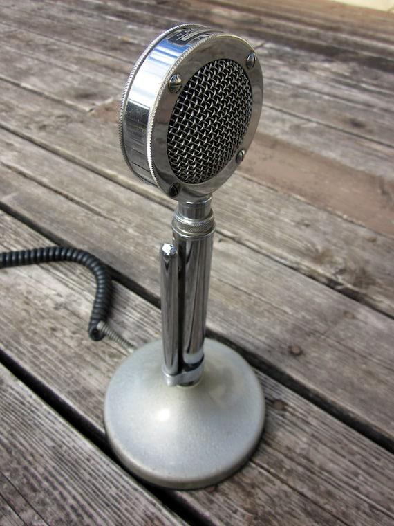 Vintage Chrome Astatic Microphone