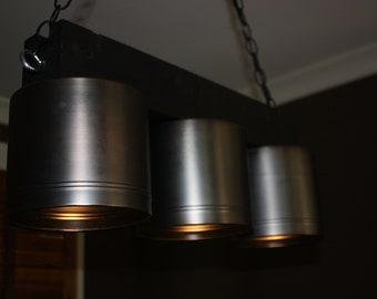 Three Light Over-Island Light Fixture