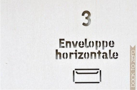 Wooden Envelope Template - Enveloppe Horizontale