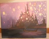 Disney Tangled Lantern Painting