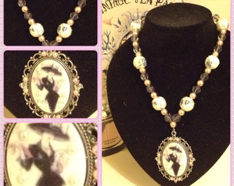 Lady About Town Pretty Beaded Necklace with Pendant
